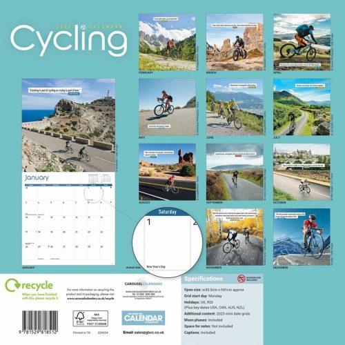 Cycling Calendar 2022-back