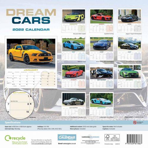 Dream Cars Calendar 2022-back