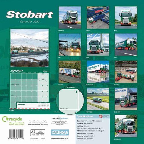 Eddie Stobart Calendar 2022-back