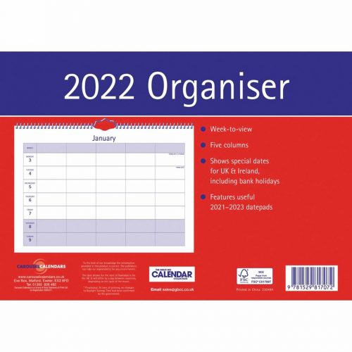 Essential A4 Family Planner 2022-back