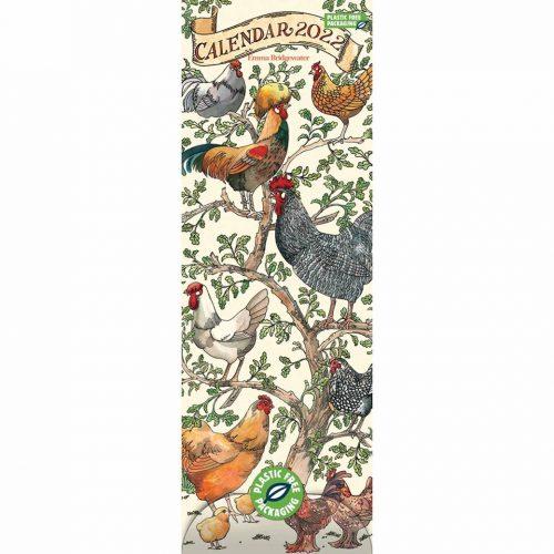 Farmyard Birds Slim Calendar 2022-front