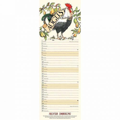 Farmyard Birds Slim Calendar 2022-inside