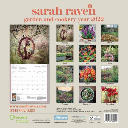 Garden and Cookery Calendar 2022-back