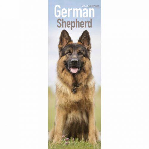 German Shepherd Slim Calendar 2022-front