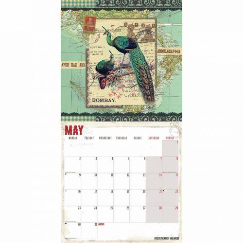 Gwen Trolez Vintage World Travel Calendar 2022-inside