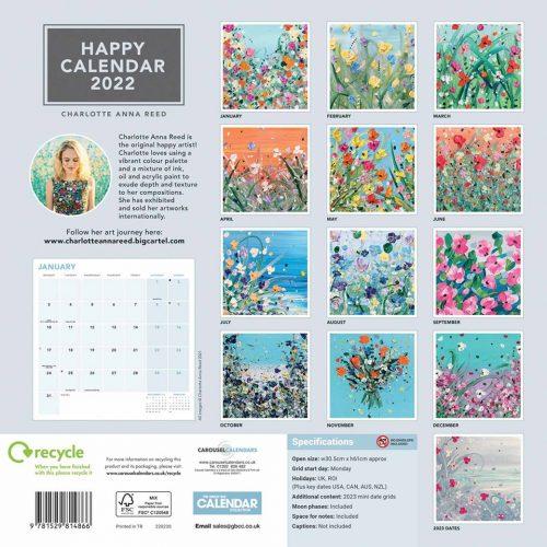 Happy Calendar 2022-back