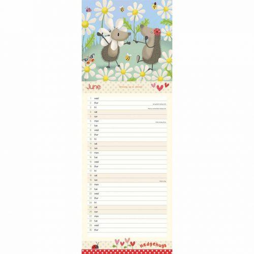 Hedeghugs Slim Calendar 2022-inside
