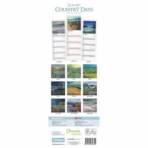Jo Grundy in the Country Days Slim Calendar 2022-back