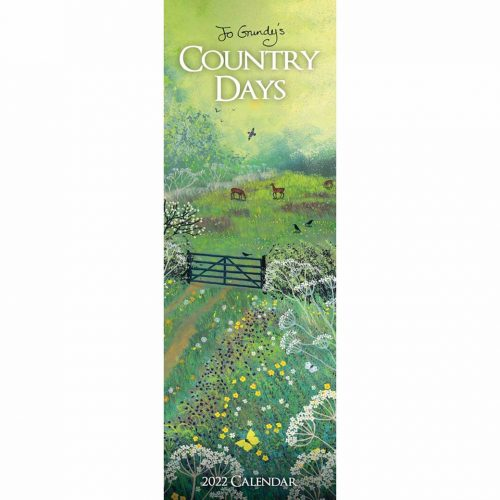 Jo Grundy in the Country Days Slim Calendar 2022-front