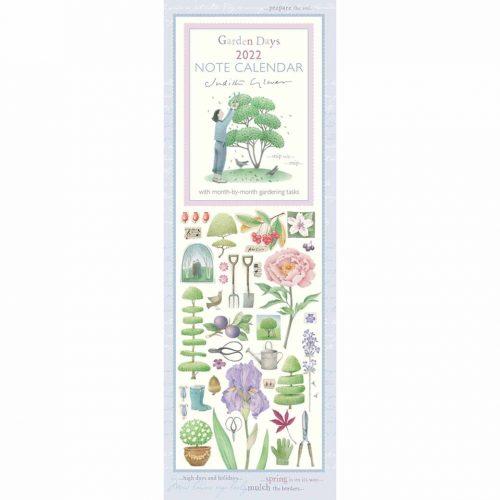 Judith Glover, Garden Days Slim Calendar 2022-front