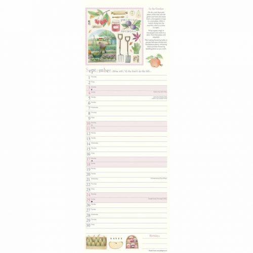 Judith Glover, Garden Days Slim Calendar 2022-inside