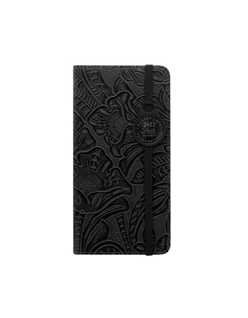 Letts Baroque Slim Week to View Diary 2022 Black-front