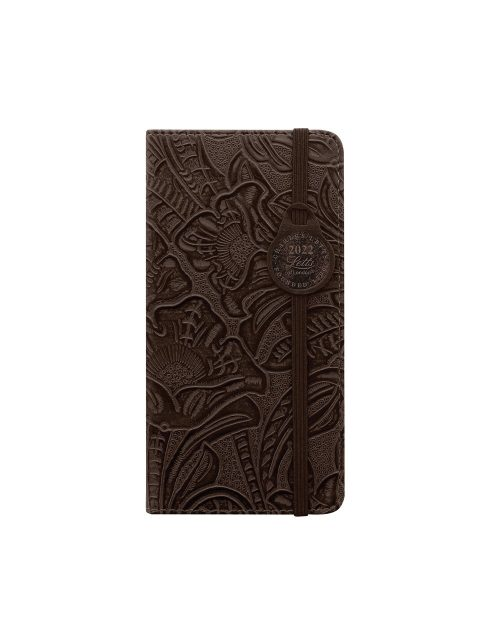 Letts Baroque Slim Week to View Diary 2022 Brown-front