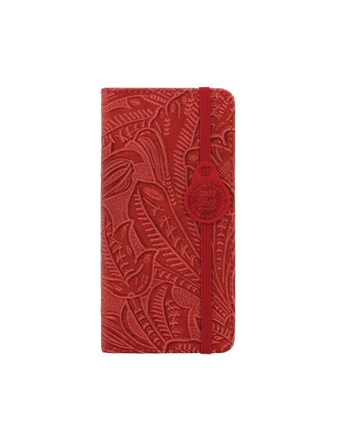 Letts Baroque Slim Week to View Diary 2022 Red-front