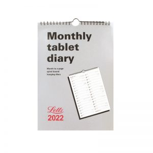 Letts Business Calendar A4 Tablet Month to View Diary 2022-front