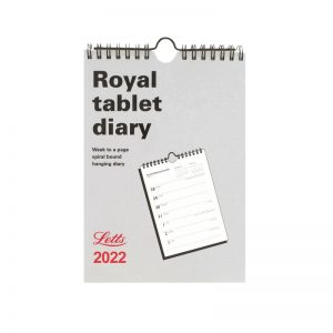 Letts Business Calendar A5 Royal Tablet Week to View Diary 2022-front