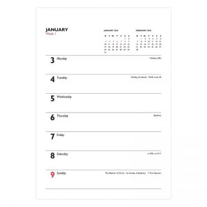 Letts Business Calendar A5 Royal Tablet Week to View Diary 2022-inside