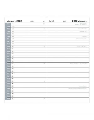 Letts Classic Slim Month to View Diary 2022 Black-inside