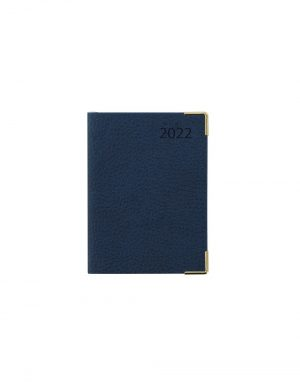 Letts Connoisseur Mini Pocket Week to View Diary 2022 Blue-front