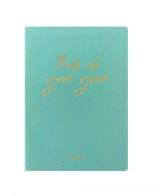 Letts Inspire A5 Week to View Diary 2022 Green-front