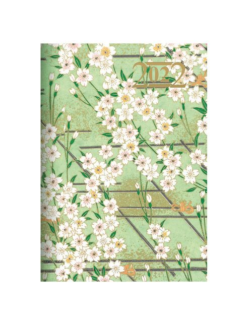 Letts Japanese Paper A5 Week to View Diary 2022 Mint-front