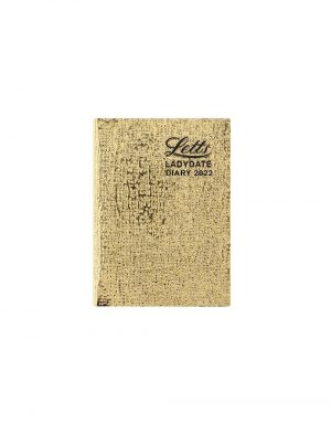 Letts Ladydate Mini Pocket Week to View Diary 2022 Gold-front