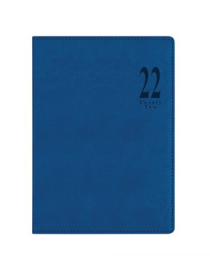 Letts Milano A5 Week to View Diary 2022 Blue-front