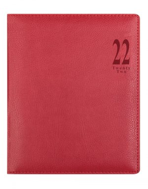 Letts Milano Quarto Vertical Week to View Diary 2022 with Appointments Red-front