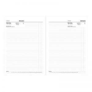 Letts Standard A4 Day to Two Pages Diary 2022-inside