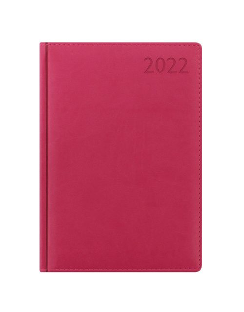 Letts Verona A5 Day to Page Diary 2022 with Appointments and Planners Pink-front