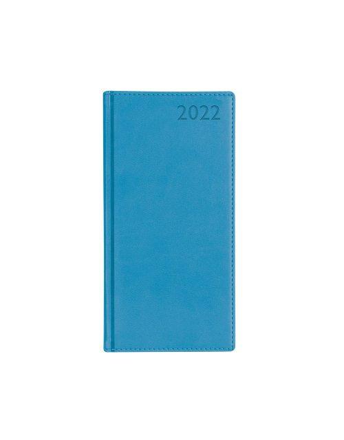 Letts Verona Slim Week to View Diary 2022 Aqua-front