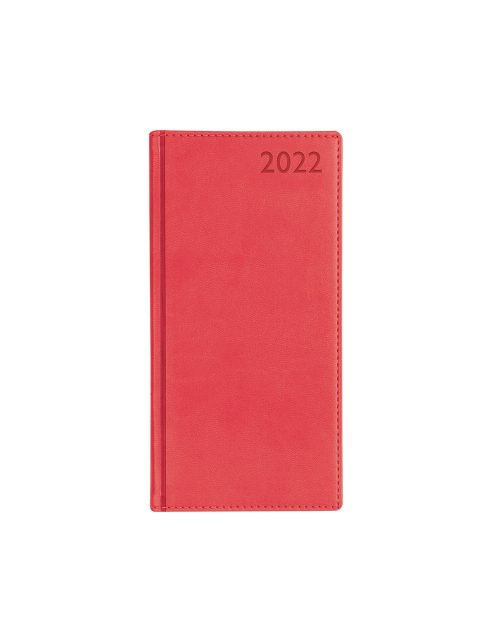 Letts Verona Slim Week to View Diary 2022 Red-front
