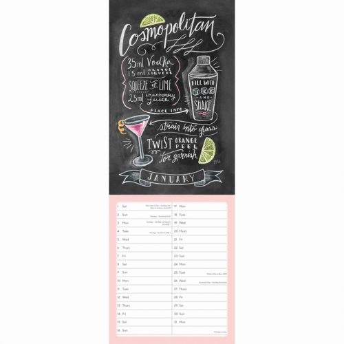 Lily & Val Cocktails Slim Wall Planner 2022-inside