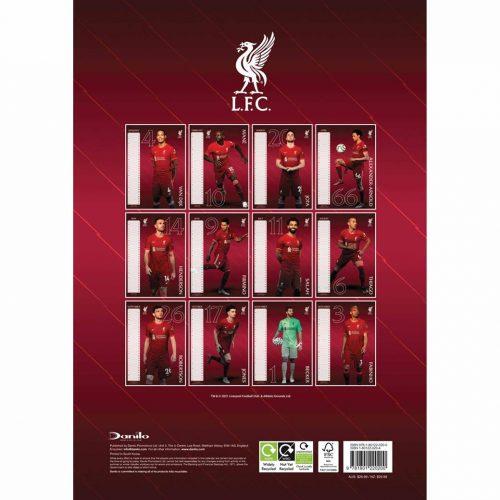 Liverpool FC A3 Calendar 2022-back