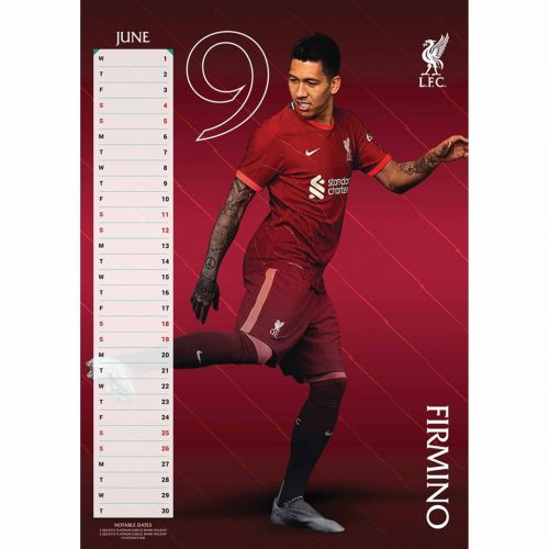 Liverpool FC A3 Calendar 2022-inside