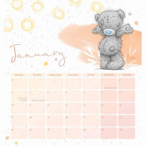 Me to You Classic Easel Desk Calendar 2022-inside