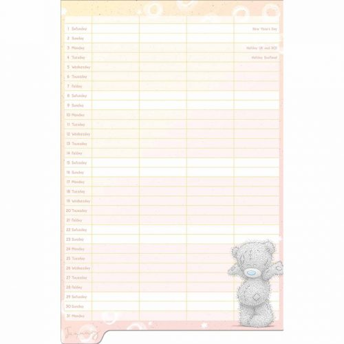Me to You Classic Family Planner 2022-inside