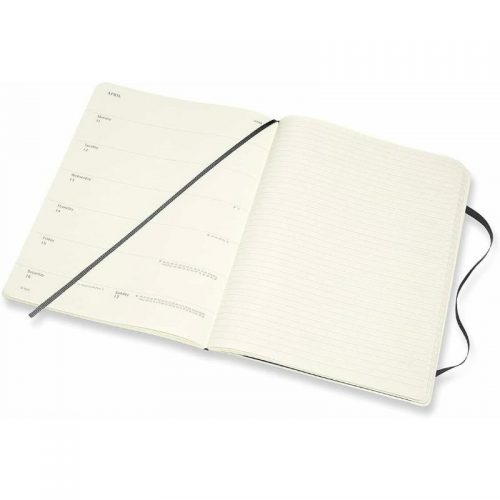 Moleskine 2022 Extra Large Weekly Notebook Diary Soft Cover Black-inside