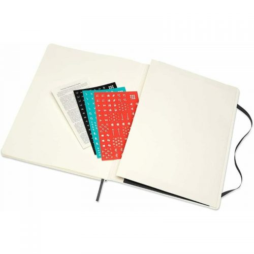 Moleskine 2022 Extra Large Weekly Notebook Diary Soft Cover Black-stickers