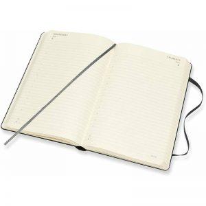 Moleskine 2022 Large Daily Diary Planner Hard Cover Black-inside