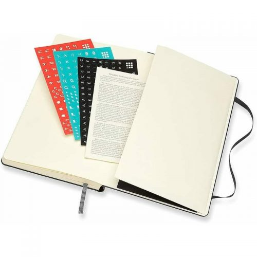 Moleskine 2022 Large Daily Diary Planner Hard Cover Black-stickers