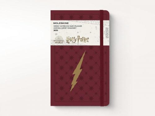 Moleskine 2022 Large Daily Diary Planner Hard Cover Harry Potter Burgundy-front