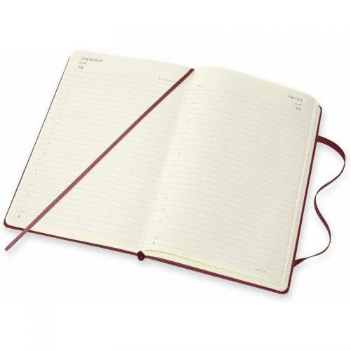 Moleskine 2022 Large Daily Diary Planner Hard Cover Harry Potter Burgundy-inside