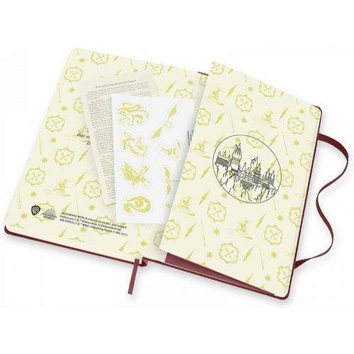 Moleskine 2022 Large Daily Diary Planner Hard Cover Harry Potter Burgundy-stickers