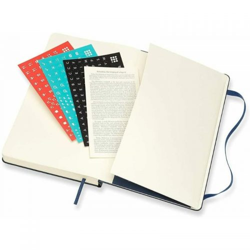 Moleskine 2022 Large Daily Diary Planner Hard Cover Sapphire Blue-stickers