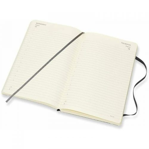 Moleskine 2022 Large Daily Diary Planner Soft Cover Black-inside