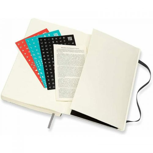 Moleskine 2022 Large Daily Diary Planner Soft Cover Black-stickers