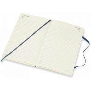 Moleskine 2022 Large Daily Diary Planner Soft Cover Sapphire Blue-inside