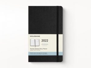 Moleskine 2022 Large Month Diary Planner Hard Cover Black-front