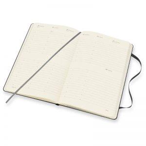 Moleskine 2022 Large Vertical Weekly Diary Planner Hard Cover Black-inside